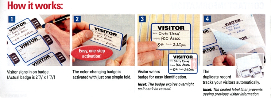 Self Expiring Visitor Badge