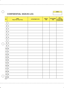 Patient Sign-In Log