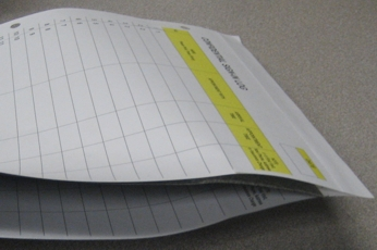 Patient Sign-In Form with record copy