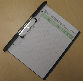 Patient Sign-In clipboard