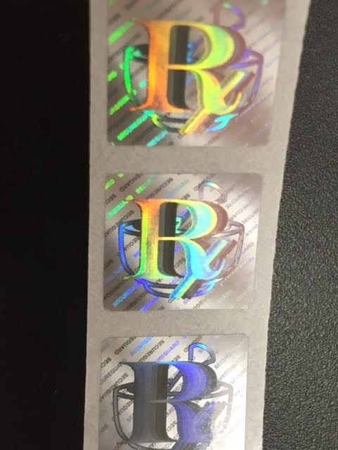 Rx security hologram