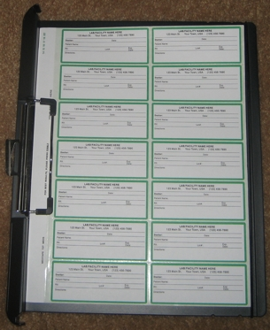 Sample Medication Label Recording System with Landscape Clipboard