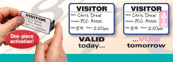 Click for Secure Visitor Badges